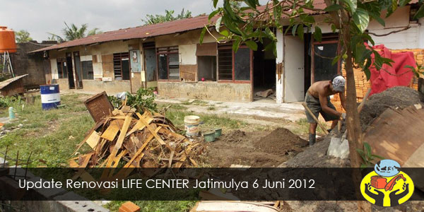 Update Renovasi LIFE CENTER Jatimulya 6 Juni 2012