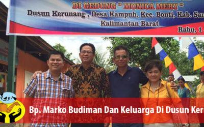 Keluarga Bp. Marko Budiman Mendedikasikan Sebuah Bangunan Untuk Kegiatan Pendidikan