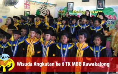 Wisuda angkatan ke 6 TK MISI BAGI BANGSA (Lima Roti Dua Ikan Indonesia)