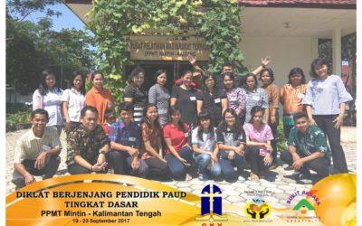 Diklat Berjenjang Pendidik PAUD Tingkat Dasar Khusus PPMT GKY Di MINTIN Kalteng