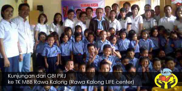 Kunjungan GBI PRJ ke TK MBB Rawa Kalong
