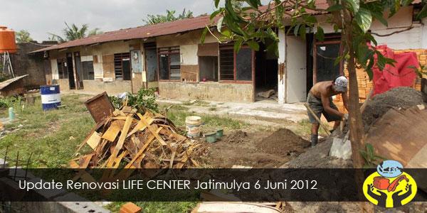Update Renovasi LIFE CENTER Jatimulya 6 Juni 2012