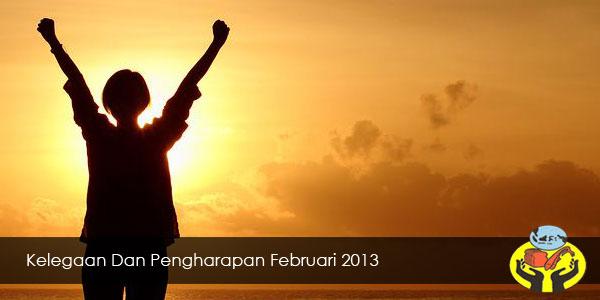 Kelegaan dan Pengharapan Februari 2013