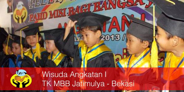 Wisuda Angkatan I TK MBB Jatimulya-Bekasi