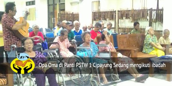 Kunjungan Dan Melayani Opa Oma di Panti PSTW 1 Cipayung
