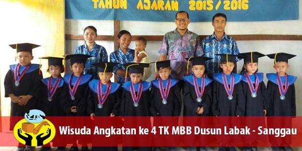 Wisuda TK Misi Bagi Bangsa (Lima Roti Dua Ikan Indonesia) angkatan ke 4, Dusun Labak, Kabupaten Sanggau KALBAR