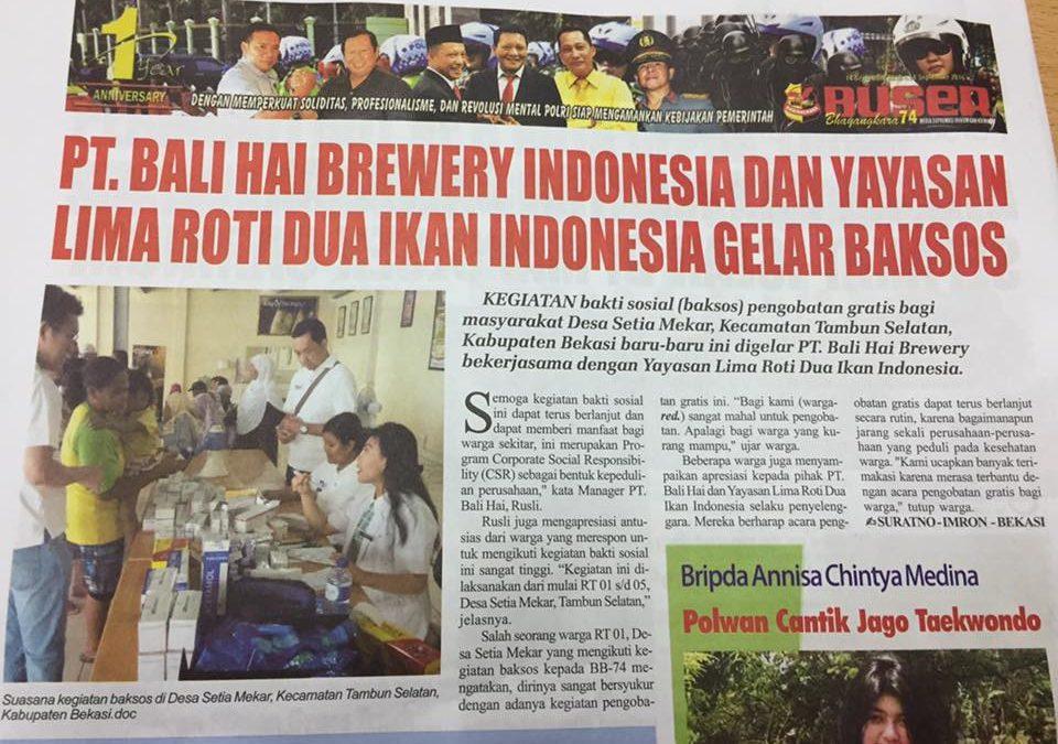 PT. Bali Hai Brewery Indonesia & Yayasan LRDII Gelar Baksos