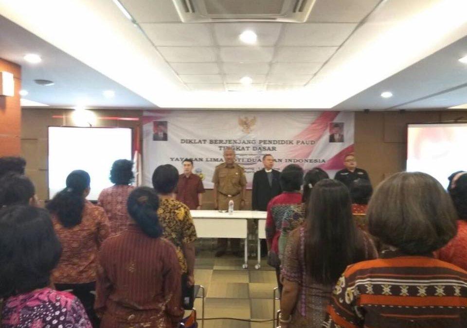 Pembukaan Diklat Berjenjang Pendidik PAUD Tingkat Dasar Bandar Lampung