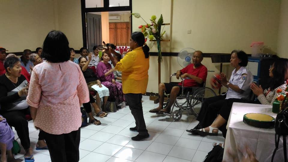 Perayaan Natal Di PSTW 4 Margaguna Pondok Indah.