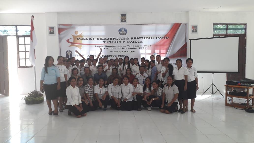Hari ke 5 Acara Diklat Berjenjang Pendidik PAUD tingkat Dasar Nusa Tenggara Timur