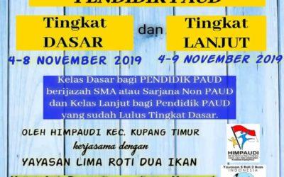 Pendaftaran Diklat Berjenjang Pendidik PAUD KUPANG NTT